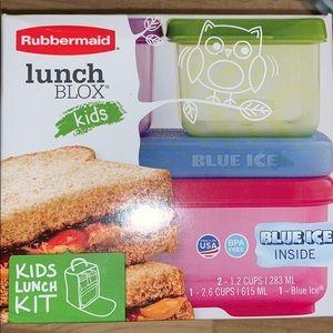 Rubbermaid Lunch Blox Kids Lunch Kit Brand New!!